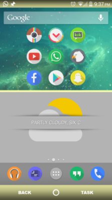 Android Custom homescreen MyColorScreen henettaja